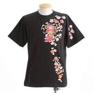 むかしむかし ワンピースコレクション 和柄半袖Tシャツ  S-2441/チョッパー弁財天 黒L - 拡大画像