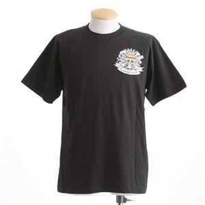 むかしむかし ワンピースコレクション 和柄半袖Tシャツ  S-2449 麦わらパイレーツ 黒 LL - 拡大画像