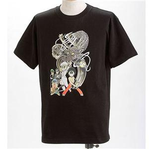 むかしむかし×マカロニほうれん荘 Tシャツ S-2666 【ドラゴンロック】 LL ブラック - 拡大画像