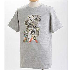 むかしむかし×マカロニほうれん荘 Tシャツ S-2666 【ドラゴンロック】 S グレー - 拡大画像