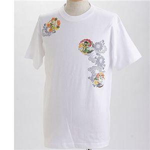むかしむかし×マカロニほうれん荘 Tシャツ S-2670 【トシちゃん拳法】 L ホワイト - 拡大画像