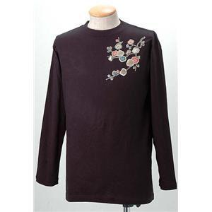 語れる立体和柄ロングTシャツ S-1952/花つくし L - 拡大画像