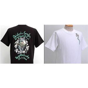 浮き出る立体プリント和柄!幸せの七福神Tシャツ (半袖) 1977・大黒 白 XL (NP) - 拡大画像