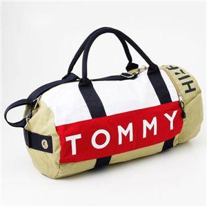 TOMMY HILFIGER(トミーヒルフィガー)ボストンバッグ L500039 カーキー/ネイビー - 拡大画像
