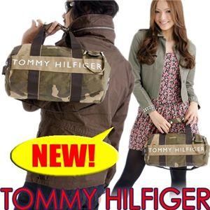 TOMMY HILFIGER(トミーヒルフィガ―) 迷彩柄 ミニダッフルバッグ Mini Duffle cam - 拡大画像