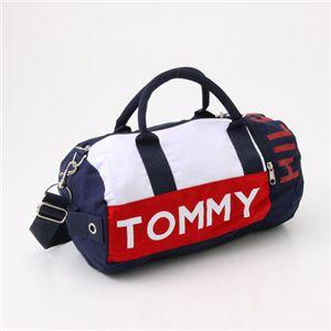 TOMMY HILFIGER(トミーヒルフィガー) ミニダッフルバッグ Mini Duffle I 467・Navy×Red - 拡大画像