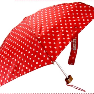 Cath Kidston(キャス・キッドソン) 折りたたみ傘 スターレッド - 拡大画像