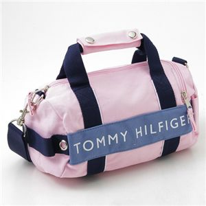 TOMMY HILFIGER(トミーヒルフィガー) マイクロミニダッフルバッグ MICRO MINI DUFFLE L200150-661・Pink×Slate Blue - 拡大画像