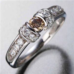 K18WGダイヤリング 指輪 ツーカラーリング 19号 - 拡大画像