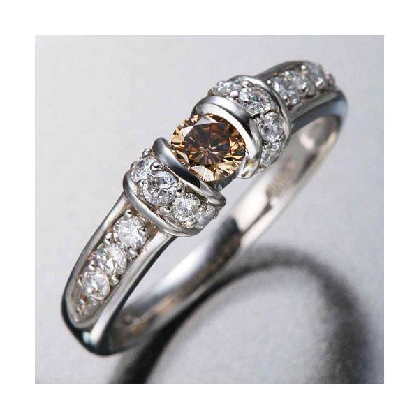 ブラウンダイヤのリング