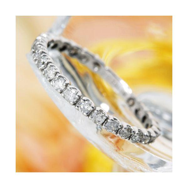 K18WG(18金ホワイトゴールド)ダイヤモンドエタニティリング(指輪)計0.5ct 125401 17号