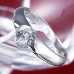 PT900(プラチナ)0.9ctダイヤリング 指輪 159713 11号【鑑別書付き】