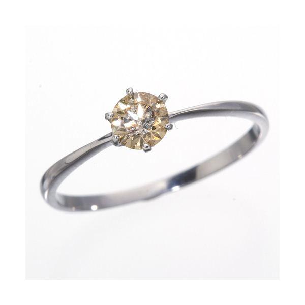 K18WG 0.25ctシャンパンゴールドダイヤモンドリング