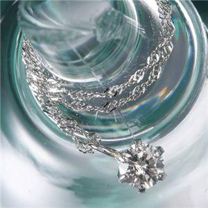 純プラチナ0.2ctダイヤモンドペンダント/ネックレス - 拡大画像