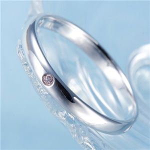 ピンクダイヤリング 指輪 サザンクロスリング 17号 - 拡大画像