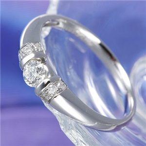 0.28ctプラチナダイヤリング 指輪 デザインリング 11号 - 拡大画像