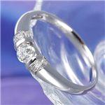 プラチナ0.2ctダイヤリング デザインリング(PT900指輪)185187 7号