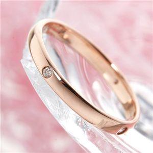 PGピンクダイヤリング 指輪 サザンクロスリング 7号 - 拡大画像