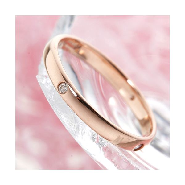 PGピンクダイヤリング 指輪 サザンクロスリング 9号