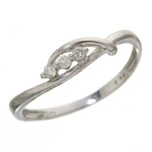 スリーダイヤリング 指輪 13号 - 拡大画像