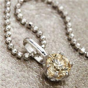 K18WG 0.3ctライトブラウンダイヤモンド一粒ネックレス(18金ホワイトゴールド)156586 42cm - 拡大画像