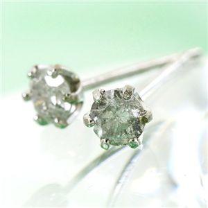 K18 0.2ctダイヤモンドピアス - 拡大画像