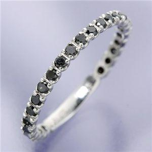 0.5ct ブラックダイヤリング 指輪  エタニティリング 7号 - 拡大画像