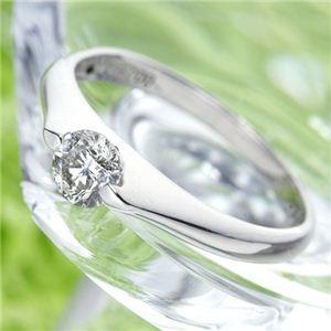 PT900 プラチナ 0.3ctダイヤリング 指輪 パサバリング 19号 - 拡大画像