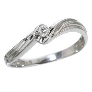 ダイヤリング 指輪 ウェーブリング 11号 - 拡大画像