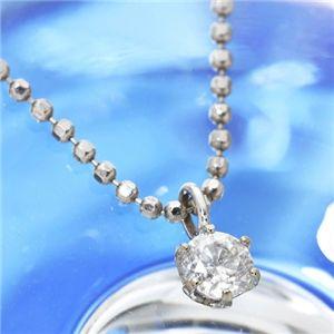 K18ホワイトゴールド0.1ct ダイヤモンドペンダント/ネックレス - 拡大画像