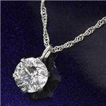 プラチナ(PT900) 0.4ct ダイヤモンドペンダント/ネックレス(鑑別書付き)