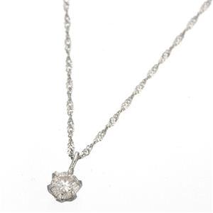 K18ダイヤモンド0.1ctペンダント ホワイトゴールド - 拡大画像