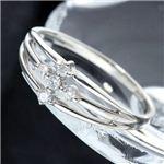 0.1ctダイヤリング 指輪 サザンクロスシルバーリング 19号