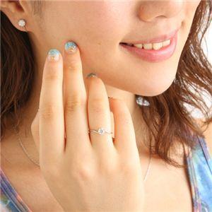 プラチナ0.3ct ダイヤリング 指輪 11号