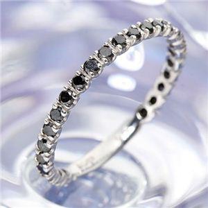 0.5ctブラックダイヤリング 指輪  エタニティリング 19号 - 拡大画像