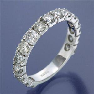 K18WG ダイヤリング 指輪 2ctエタニティリング 17号 - 拡大画像