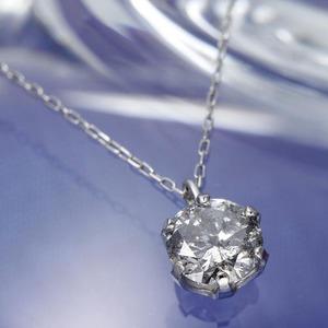 純プラチナ 0.5ct ダイヤモンドペンダント/ネックレス(鑑別書付き) - 拡大画像