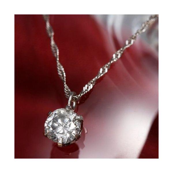 純プラチナ 0.3ctダイヤモンドペンダント/ネックレスのポイント5