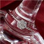 K14WG(ホワイトゴールド) ダイヤリング 指輪  セブンスターリング 17号