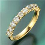 K18YG(イエローゴールド) ダイヤリング 指輪 1.0ctエタニティリング 9号