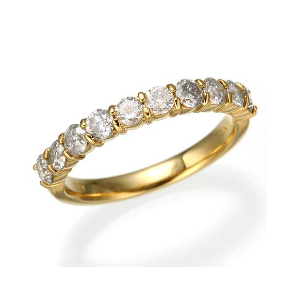 K18YG(イエローゴールド) ダイヤリング 指輪 1.0ctエタニティリング 9号2