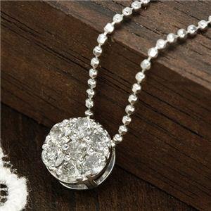 0.2ctダイヤモンド7ストーンペンダント - 拡大画像