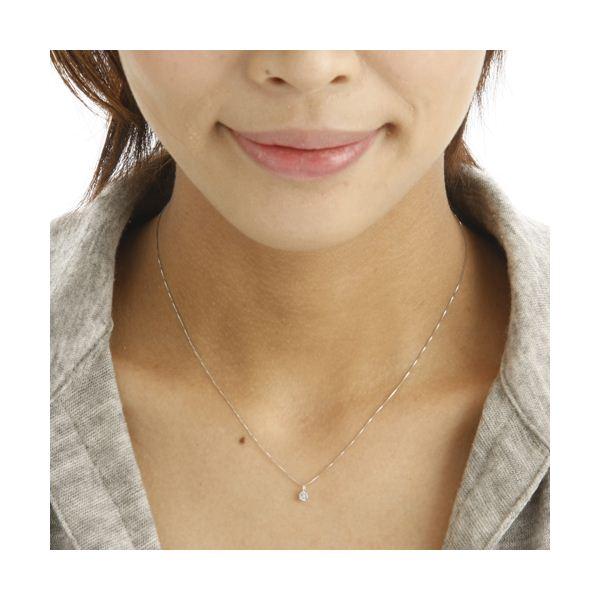プラチナPt0.1ctダイヤモンドペンダント/ネックレスのポイント1