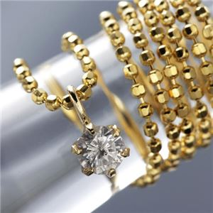 0.1ct K18台ダイヤモンドペンダント/ネックレス - 拡大画像