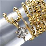 0.1ct K18台ダイヤモンドペンダント/ネックレス
