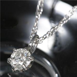 プラチナPt900 0.1ct 一粒ダイヤモンドペンダント/ネックレス