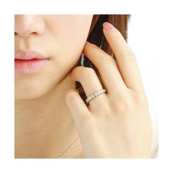 プラチナPt900 /1ctフルエタニティダイヤリング 指輪 ペアリング 7号