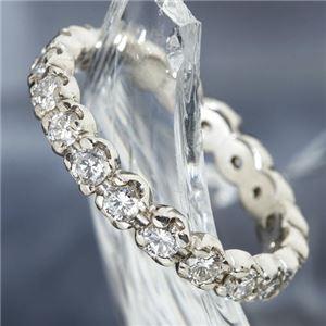 プラチナPt900 /1ctフルエタニティダイヤリング 指輪 ペアリング 9号 - 拡大画像