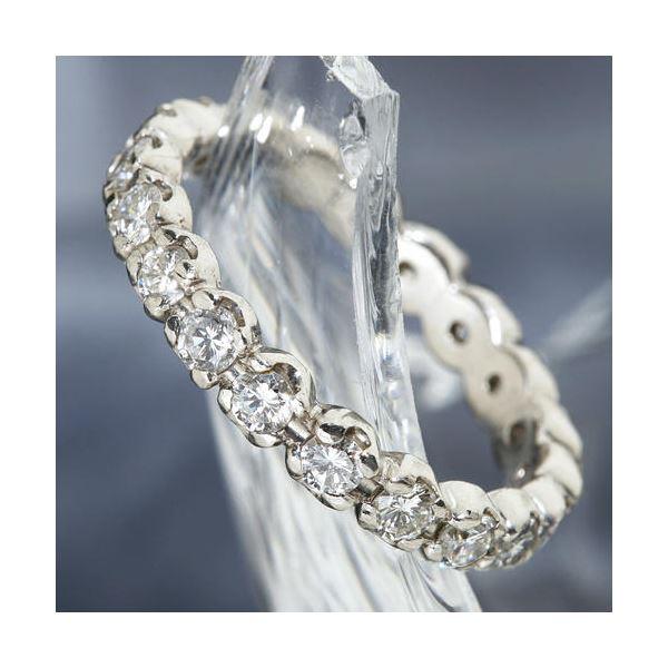 プラチナPt900 /1ctフルエタニティダイヤリング 指輪 ペアリング 9号3