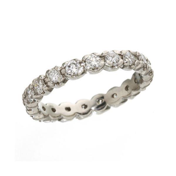 プラチナPt900 /1ctフルエタニティダイヤリング 指輪 ペアリング 9号2